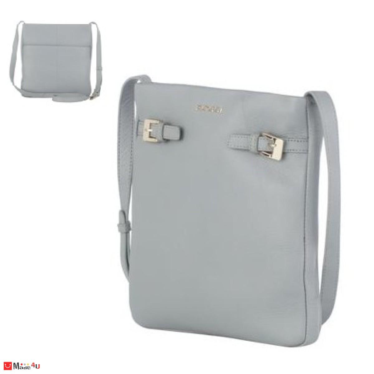 Дамска чанта тип торба, цвят сив