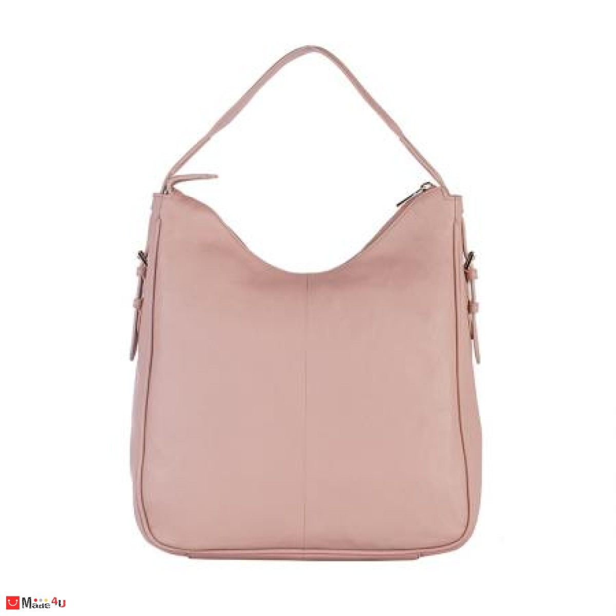 Дамска чанта тип торба 32х34см, перлено розово