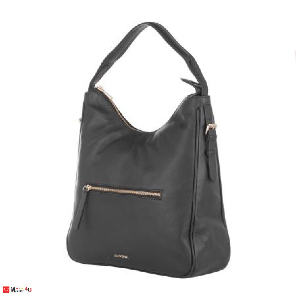 Дамска чанта тип торба 32х34см, черна
