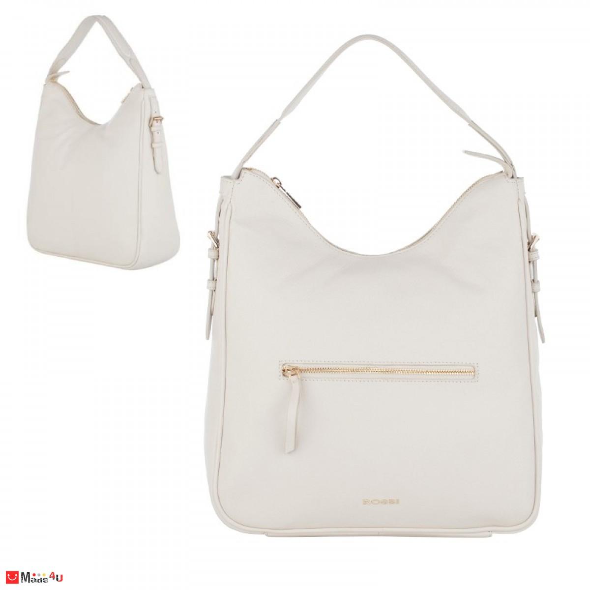 Дамска чанта тип торба 32х34см, слонова кост