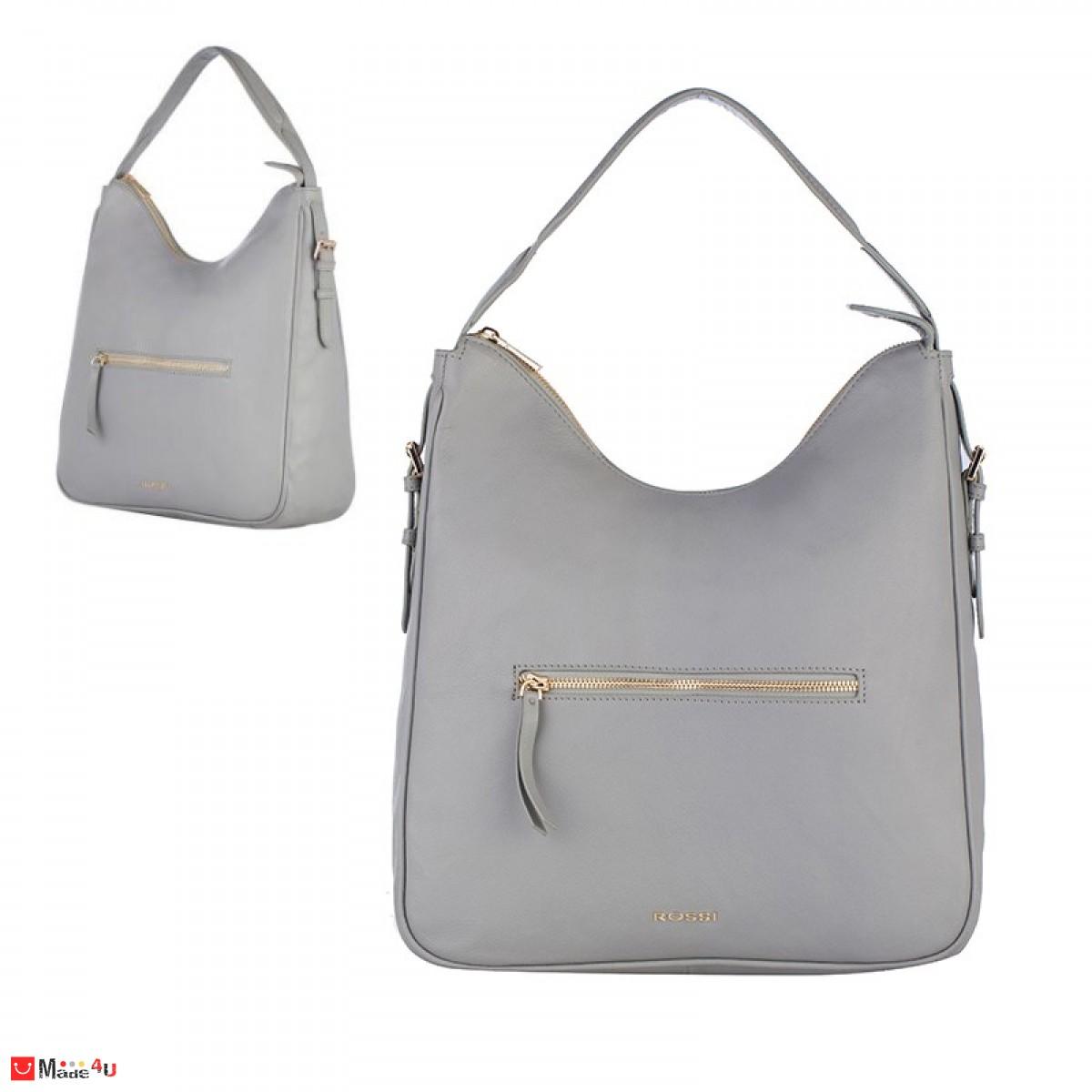 Дамска чанта тип торба 32х34см, сива