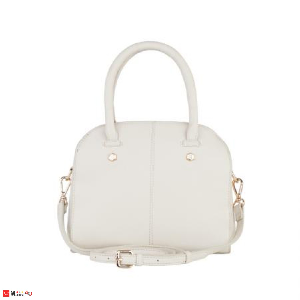 Дамска чанта естествена кожа 21х25см, слонова кост