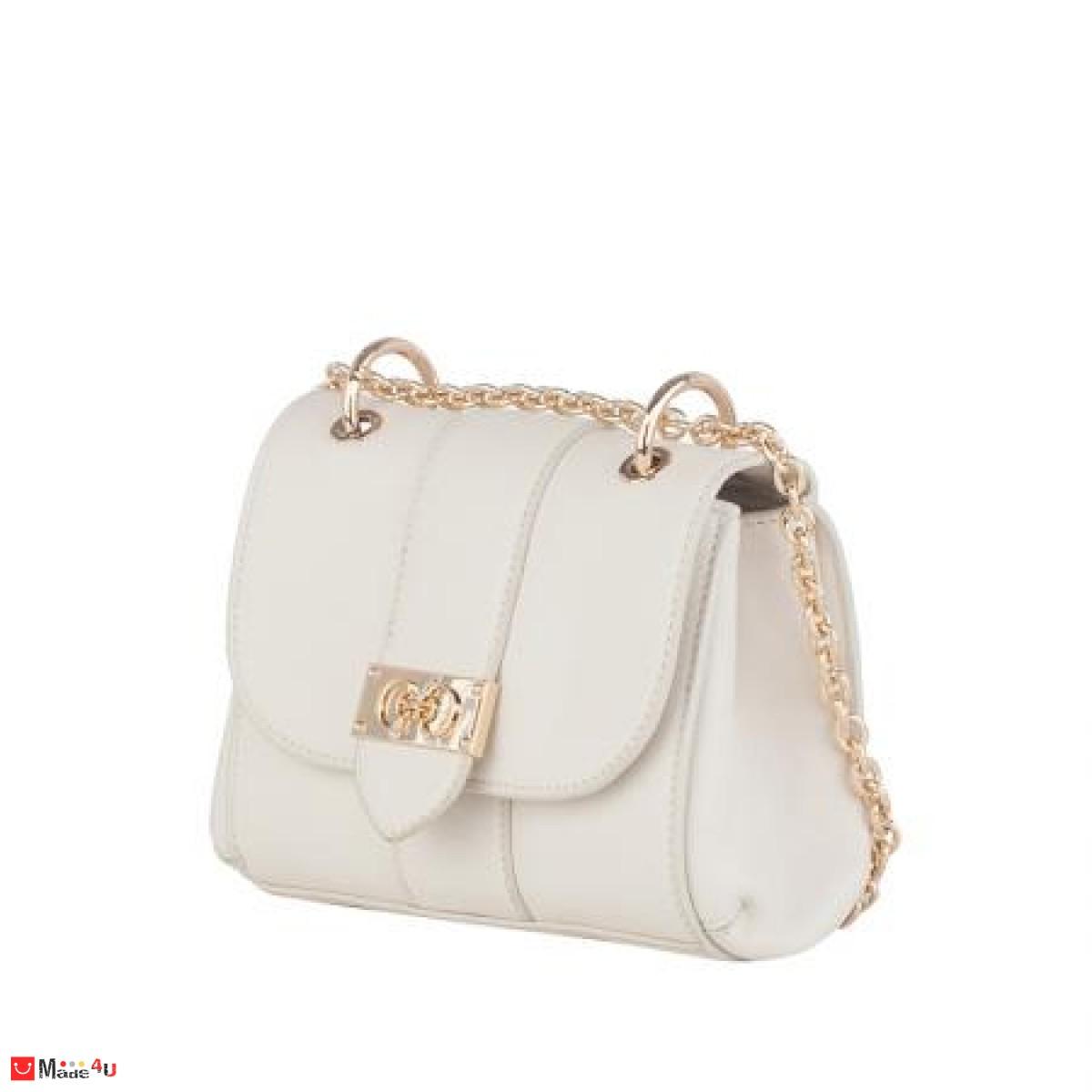Дамска чанта през рамо 20х17см, бяла