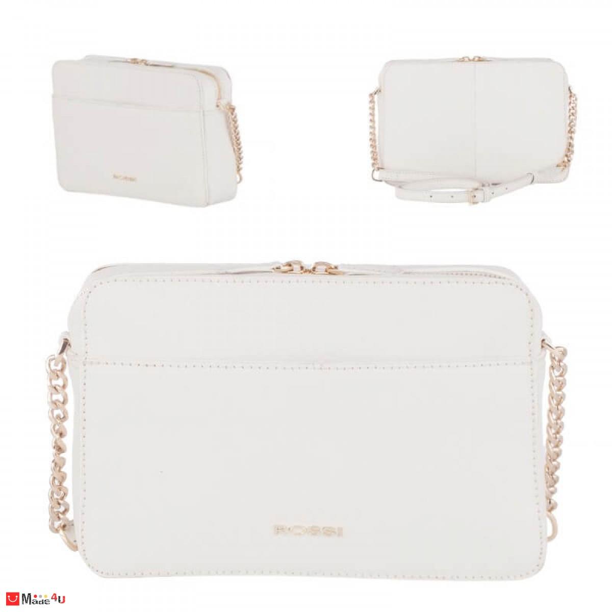 Дамска чанта през рамо 25х16см, бяла