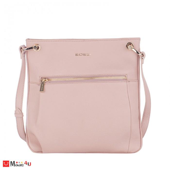 Дамска чанта тип торба 26х27см, перлено розово