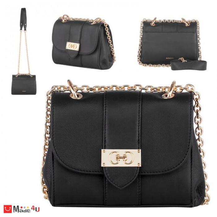 Дамска чанта през рамо 20х17см, черна