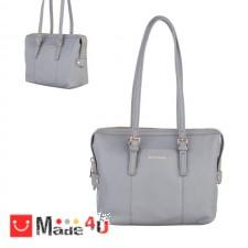 подарък Дамска чанта естествена кожа, дамски чанти през рамо Rossi Италия, сива DM-RSL67159