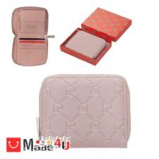 подарък Малко Дамско Портмоне с цип, еко кожа, розова щампа, PIERRE CARDIN DM-PCL01825