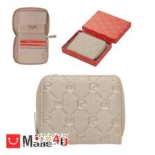 подарък Малко Дамско Портмоне с цип, еко кожа, златна щампа, PIERRE CARDIN DM-PCL01832