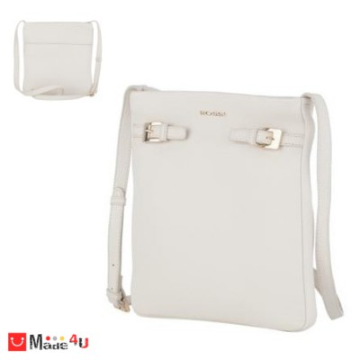 Дамска чанта тип торба, цвят слонова кост