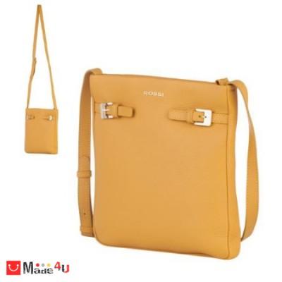 Дамска чанта тип торба, цвят светла горичица