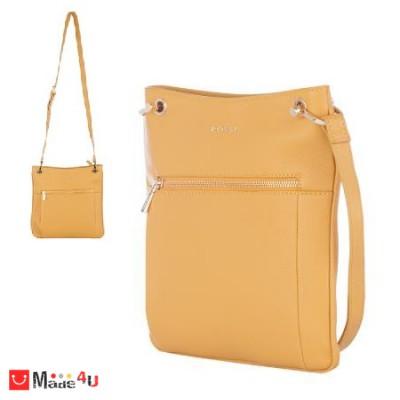 Дамска чанта тип торба 26х27см, светла горчица