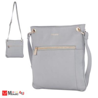 Дамска чанта тип торба 26х27см, сива