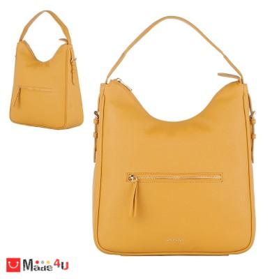 Дамска чанта тип торба 32х34см, светла горчица