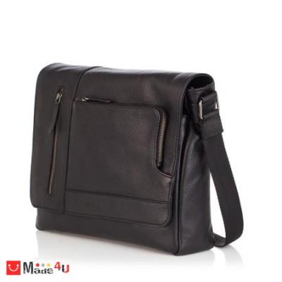 Стилна Мъжка Чанта от естествена телешка кожа