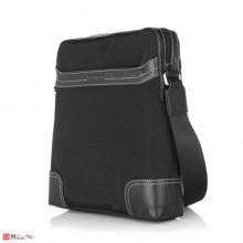 Стилна Мъжка Чанта от плат и естествена кожа, 29/27см, класически модел за през рамо, SILVER FLAME LF03M