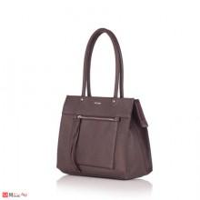 Бизнес Дамска Чанта, шоколадово кафява, естествена кожа, ROSSI