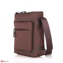 Мъжка Чантa естествена кожа 28/25см, класически модел за през рамо, SILVER FLAME DM-LF02M