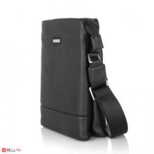 Мъжка Чантa естествена кожа 27/25см, класически модел за през рамо, SILVER FLAME DM-LF09L