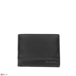 Мъжки стилен портфейл от естествена кожа, хоризонтален, черен, PIERRE CARDIN PCL02135
