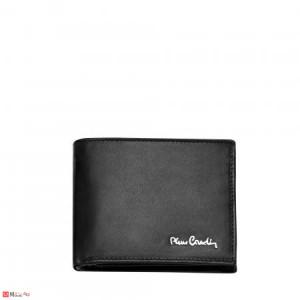 Мъжки стилен портфейл от естествена кожа, хоризонтален, черен, PIERRE CARDIN PCL02307