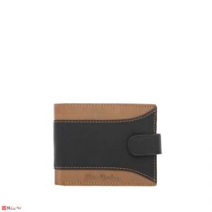 Мъжки спортен портфейл, естествена кожа, хоризонтален, кафяво и черно, PIERRE CARDIN PCL02729