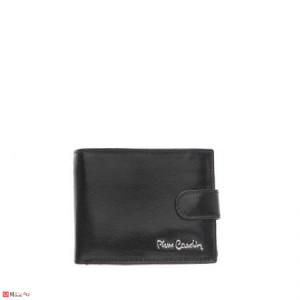 Елегантен мъжки портфейл от естествена кожа, хоризонтален, черен, PIERRE CARDIN PCL02800