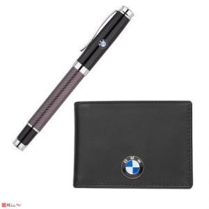 Комплект Ролер и Калъф за документи и карти, тип визитник, естествена кожа, марка BMW