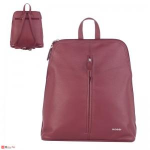 Дамска чанта през рамо, естествена кожа дамски чанти Rossi, винено червено