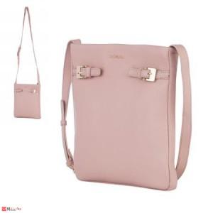 Дамска чанта тип торба, цвят перлено розово, дамски чанти естествена кожа Rossi