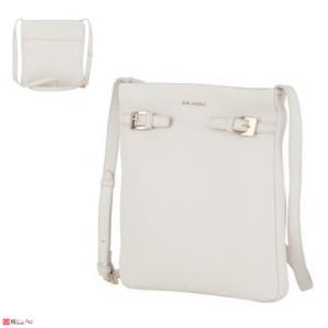 Дамска чанта тип торба, цвят слонова кост, дамски чанти естествена кожа Rossi