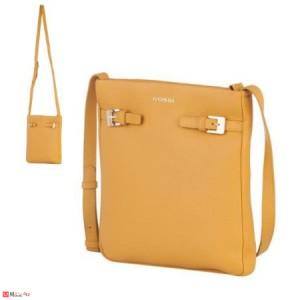 Дамска чанта тип торба, цвят светла горичица, дамски чанти естествена кожа Rossi