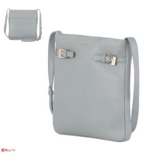 Дамска чанта тип торба, цвят сив, дамски чанти естествена кожа Rossi