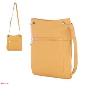 Дамска чанта тип торба 26х27см, светла горчица, дамски чанти естествена кожа Rossi