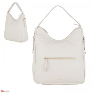 Дамска чанта тип торба 32х34см, слонова кост - дамски чанти естествена кожа Rossi