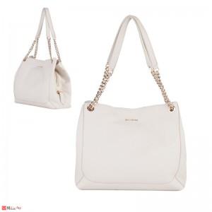 Дамска чанта естествена кожа, 32х27см, слонова кост - дамски чанти тип торба Rossi