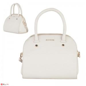 Дамска чанта естествена кожа 21х25см, слонова кост - малки дамски чанти Rossi