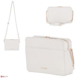Дамска чанта през рамо 25х16см, бяла, дамски чанти естествена кожа Rossi