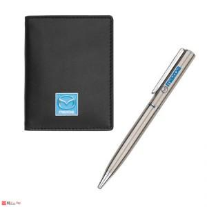 Сет Химикал и Калъф за документи и карти, тип визитник, естествена кожа, марка Mazda