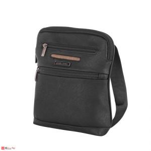 Мъжка Чанта от еко кожа, 26/22см, класически модел за през рамо, PIERRE CARDIN PCL6008B