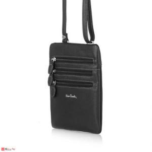 Мъжка Чанта от естествена кожа, 16/20см, класически модел за през рамо, PIERRE CARDIN PCL6080B