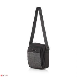 Мъжка Чанта PIERRE CARDIN от плат, 21/23см, класически модел за през рамо, PCL3151M