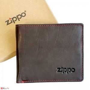 Мъжки Портфейл ZIPPO, вградена защита за банкови карти, хоризонтален, естествена кожа, кафяв, 2005119