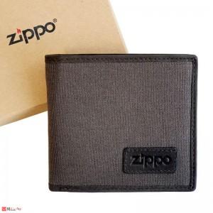 Мъжки Портфейл ZIPPO, текстил и естествена кожа, хоризонтален, с монетник и отделения за документи и карти, 2005120