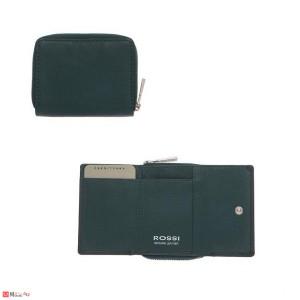 Дамско Портмоне естествена кожа 8х10см, джобно за монети и карти, зелено, кожени портмонета Rossi