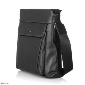 Мъжка Чантa естествена кожа 27/22см, класически модел за през рамо, SILVER FLAME DM-LF08M