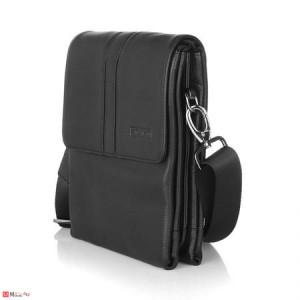 Мъжка Чантa естествена кожа 25/20см, класически модел за през рамо, SILVER FLAME DM-SFH01