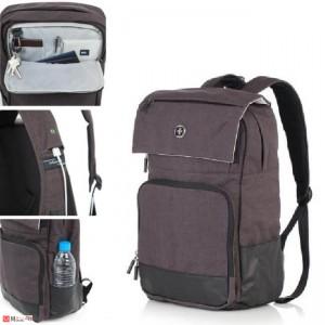 Бизнес Раница за лаптоп с USB кабел, подходяща и за спорт и туризъм, 18л, тъмно сива - SWISSDIGITAL