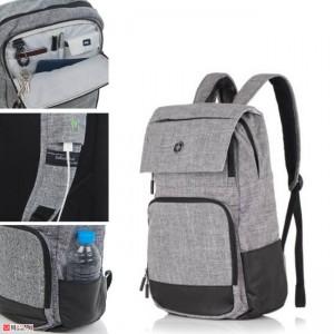 Бизнес Раница 18л за лаптоп с USB кабел, подходяща и за спорт и туризъм, SWISSDIGITAL