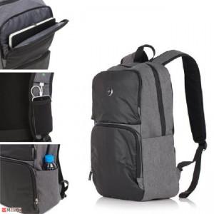 Бизнес Раница 20л за лаптоп с USB кабел, подходяща и за спорт и туризъм, черно и сиво - SWISSDIGITAL